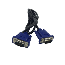 VGA To VGA Cable Adapter Blue 5FT 1.4M 15 PIN SVGA HDB15 SUPER VGA M/M Male To Male Connector Cable Cord Extension