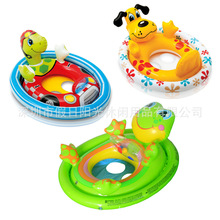 Lovely Summer Kids Child Seat swim ring Dog Turtle Frog Animal Inflatable Swimming boat Game Float toys Water pool tube(China)