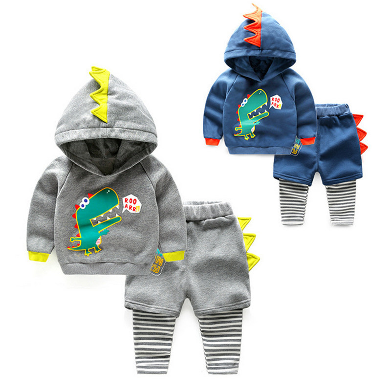 2017 autumn childrens suit baby long-sleeved sweater + trousers new cartoon style childrens clothing boy two-piece  L270<br>
