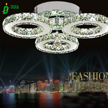 Modern LED Crystal Ceiling Light Ring Mounted Ceiling Lamp LED Clear TOP K9 Crystal Mounted Ceiling Luatre for Home Decoration