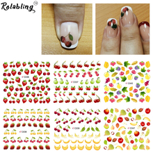 Summer fruit purple & banana water transfer nail sticker on finger nails stickers for women nail sticker decal nail art(China)