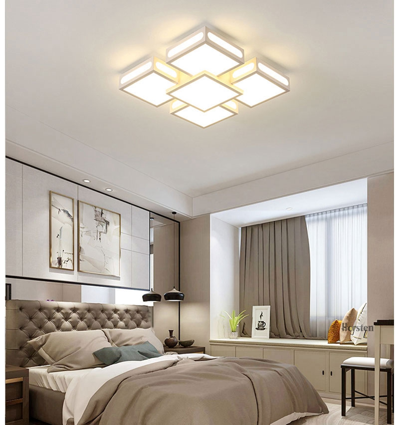 Modern Simple Acrylic LED Ceiling Lights Minimalist Rectangular Ceiling Chandelier Lights Lamp For Living Room Bedroom 220V (6)