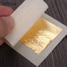 KiWarm 10 Sheets Practical 24K Pure Real Edible Gold Leaf Foil Gilding Handicrafts Cake Decoration Face Beauty Mask 4.33x4.33cm