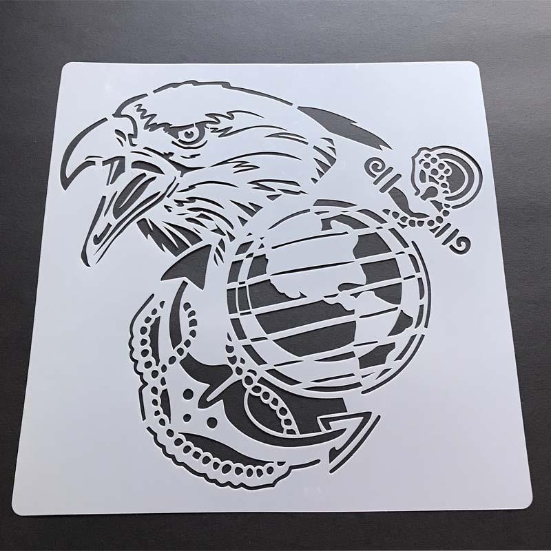 Skeleton head Stencil Airbrush template for Craft Scrapbooking Graffiti