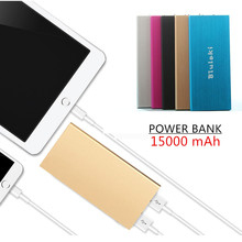 Original bluleki Power Bank 15000mAh Portable Charger Mi Powerbank External Battery Pack for Mobile Phone Backup Powers+Case