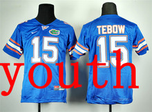 New Arrival Nike Youth Nike Florida Gators Tim Tebow 15 Royal Blue College T-shirt Jersey