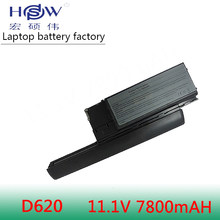 HSW 7800 мАч ноутбука Батарея для Dell Latitude D620 D630 D631 M2300 KD491 KD492 KD494 KD495 NT379 PC764 PC765 PD685 RD300 TC030(China)
