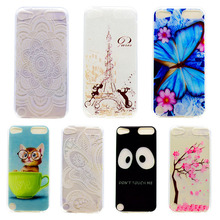 Case For iPod Touch 5/iPod Touch 6 Soft TPU Back Hybrid Phone Cases Covers Shockproof Anti-scratch -Painted Slim SCAN01