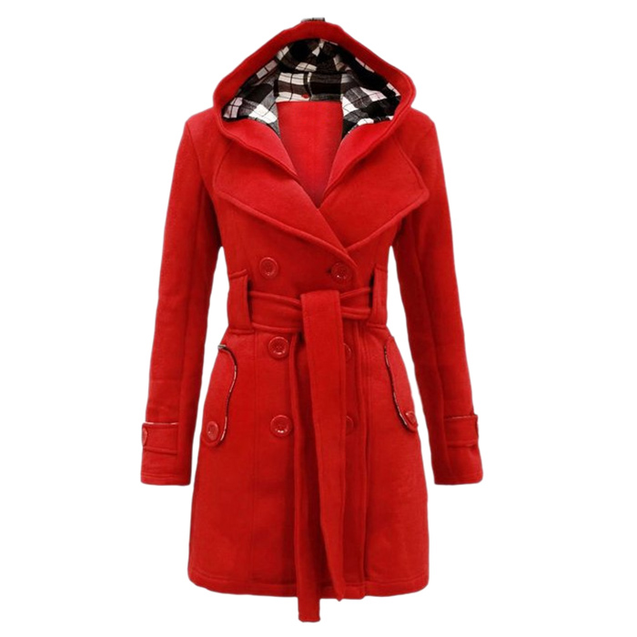 New Ladies Jacket Womens Military Coat Tartan Plus Size Warm Belted Nouvelle