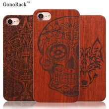 Natural Retro Real Wood + PC Case for iPhone 5 5s SE 6 6s 6S Plus Vintage Wooden Case Cover for iPhone 7 7 Plus Hard Back Cover