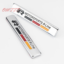 R Fender R Line Emblem Badge car Sticker For Volkswagen vw Golf 5 6 7 MK6 MK7 Polo Beetle Touran Passat car styling Auto parts(China)