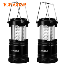 TOPIA STAR 2 Piece Portable Led Camping Lantern Outdoor Waterproof Tent Light(China)