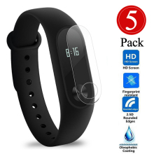 5Pcs Screen Protector Film For Xiaomi Mi Band 2 Smart Wristband Bracelet Full Cover Protective Films , Not Tempered Glass(China)
