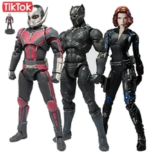 SHF Captain America Civil War Ant Man Black Panther Black Widow Cartoon Toy Action Figure Model Doll Gift(China)