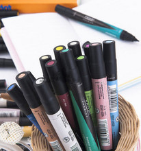 60pcs/BAG Double slider Fandi alcohol oily markers be useful for copic markers building animation interior design