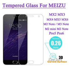Screen Protector Tempered Glass For MEIZU M2 Note M1 M2 mini Note Pro 5 MX5 MX4 Pro Metal Explosion Proof Film(China)