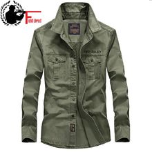 2017 New Casual Mens Military Style Army Tactical Shirts Long Sleeve Brand Clothing Slim Army Dress Shirt Male Green Khaki Navy