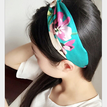 Women Elastic Hair Band Headband Flower Printed Turban Head bands Girls Hairbands Headwear Ornament Hair Accessories HO642475