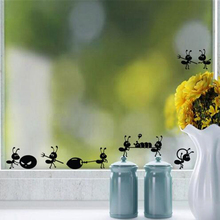 Creative DIY Lovely Ant moving wall stickers home decor living room mirror Window wall stickers for kids rooms free shipping