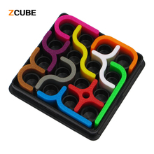 Zcube 10pcs/set New IQ link Puzzles Tetris Toys Child Jigsaw Puzzle Learning & Educational Toys For Children 3+ years Old-50(China)
