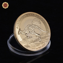 WR Australian Perth Mint Kangaroo Animal Coin Troy Oz.9999 Gold Plated Elizabeth II 1 Replica Coin Copy(China)