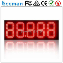"leeman 10inch 12""  distance transmission outdoor led gas price sign digital display LED gas station price display/led gas price"