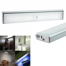 1W LED Light Bulb Tube Wireless PIR Motion Sensor Lamp Night Light Portable USB Rechargeable Lamp for Cabinet Closet 5V