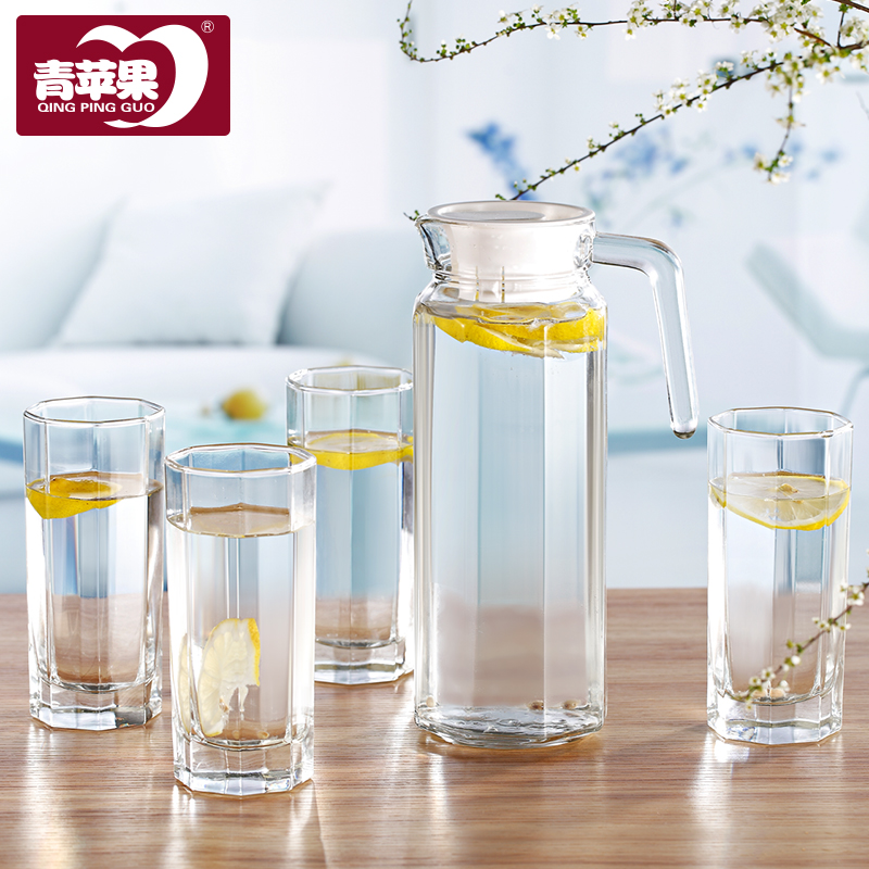 Ultra-thick glass water pot  five complete set cups water kettle<br>