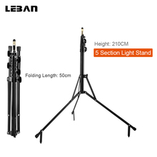 210cm 83'' 5-Section Reverse Legs Light Stand Reverse Fold Studio Photo Stand Photo Studio Accessories(China)