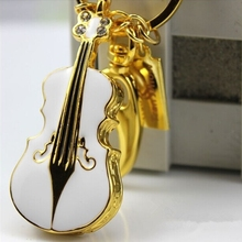 Crystal Violin Gift Jewelry Usb Flash Drive 512GB Guitar Pendrive 64GB Pen Drive 8GB 32GB Pen Driver 16GB 128GB USB Stick 2.0(China)