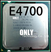 Free shipping Original For Intel Core 2 Duo E4700 2.6Ghz LGA 775 2M 800Mhz Dual Core Desktop