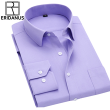 Long Sleeve Slim Men Dress Shirt 2016 Autumn New Fashion Designer High Quality Solid Male Clothing Fit Business Shirts 4XL M431