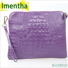factory sale crocodile purple women clutch bag female day clutch purses and handbags evening clutch bags women leather handbags(China)