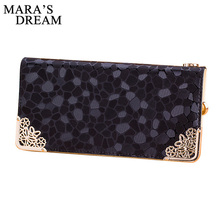 Mara's Dream 2017 New High Capacity Fashion Women Wallets Long PU Leather Wallet Female Zipper Clutch Coin Purse Ladies Wristlet