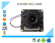 Luckertech Secure CCTV IP Camera module Hi3518E+F02 with Lens focused and IR-CUT 2.0MP 1080P CMOS 1920*1080 Full HD