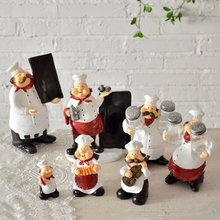 American Country Mini Chef Series Resin Decoration Home Furnishing Ornaments Figurine Decor Cook Kitchen Cafe Restaurant(China)