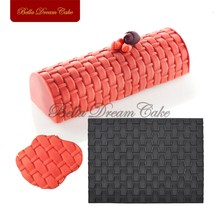 Knit Texture Decorating Fondant Lace Mat, Mousse Mold for Cake, Silicone Lace Mat, Deseert Moulds for Kitchen Bakeware MCT-06