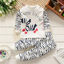 2pcs/ sets zebra clothes pants newborn little horse Kids boys girls set Baby children clothing toddler suit costume Casual full