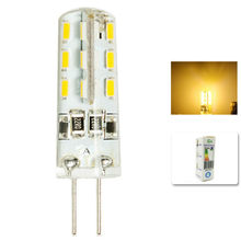 1 pcs/lot G4 DC12V 3W LED Bulb 24leds SMD 3014 Led Corn Lamp for Crystal Lamp LED Spotlight Bulbs Warm/Cold White(China)