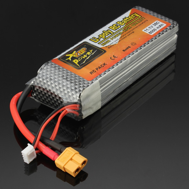 High Quality ZOP Power 11.1V 6000mAh 35C Lipo Battery XT60 Plug Recharge Battery RC Battery  For RC Model<br>