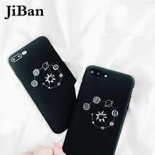 JiBan Cool Universe Cosmos Nine Planets Case For iphone 8 The Solar System Soft Back Phone Cover Case Shell For iphone 6s 7 plus(China)