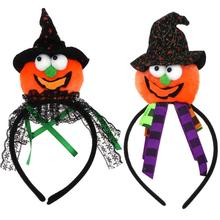 Halloween Party Pumpkin Cap Look Head Wear Hair Clasp Hair Band Hats Costume Headwear Accessories(China)