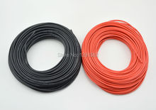 1 METER Red+ 1 METER Black 12AWG 14AWG 16AWG 22AWG 24AWG Heatproof Soft Silicone Wire Cable For RC Model Battery Part(China)