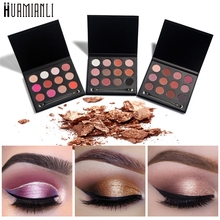 Love Beauty Female  Huamianli 12-Color Cosmetic Makeup Matte Powder Eye Shadow Palette 17Drop Shipping