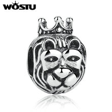 2017 Hot Sale Silver King Of The Jungle Lion Charm Beads Fit Original wst Bracelet Bangle For Women Fashion DIY Jewelry Gift