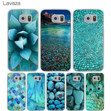 Lavaza Turquoise Stone flora feather Hard Transparent Cover Case for Samsung Galaxy S7 Edge S6 S8 Edge Plus S5 S4 S3 & Mini S2