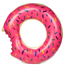 48 Inchs Sweet Dessert Giant Pool Floats Adult Super Large Gigantic Doughnut Pool Inflatable Life Buoy Swimming Circle Ring