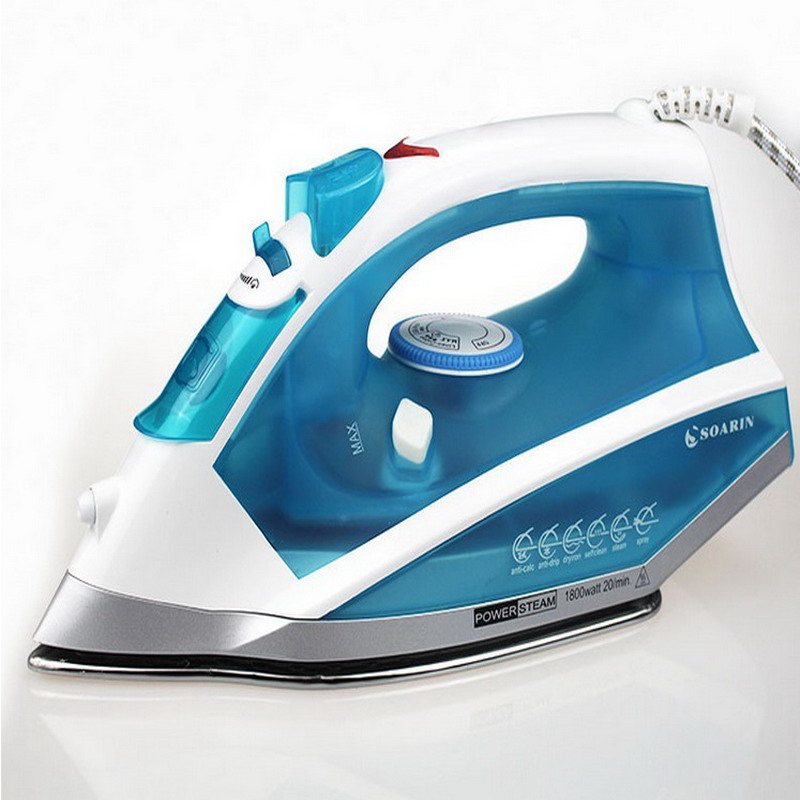 Five-shift thermostat stainless steel handheld household steam perm bucket EU Plug Electric Iron<br>