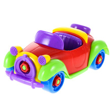 Kids Car Toys Multi-Color Funny Baby ABS Plastic Car Airplane Puzzle Toy Assembly Early Children Educational Gift Toy(China)