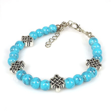 Olaru New Fashion Bracelets Bangles Jewelry Chain Bracelet Best wish Chinese knot Round Hollow Charm Bracelets For Women